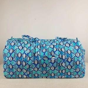 Vera Bradley Large Duffel Bag Go Fish Blue NWT